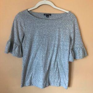 J. Crew Factory Flutter Sleeve Slub Cotton T-Shirt